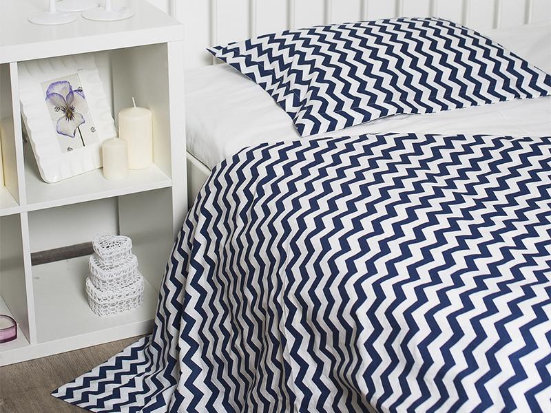 Комплект постельного белья подростковый Wave dark blue