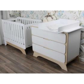 Комплект Nova Bed plus белый/натуральное дерево