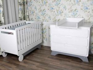 Комплект Nova Bed plus белый/серый